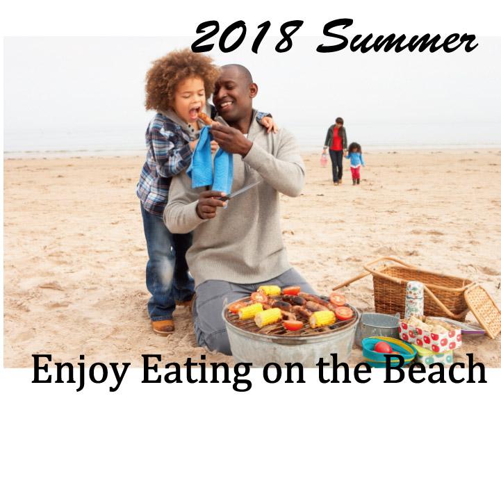 2018年浜辺でバーベキュー