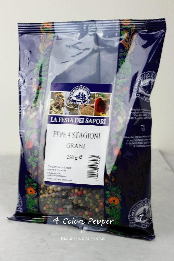 4色ペッパー 250g ドロゲリア アリメンターレ社 イタリア産 (Italian 4 colors pepper by DROGHERIA & ALIMENTARI)