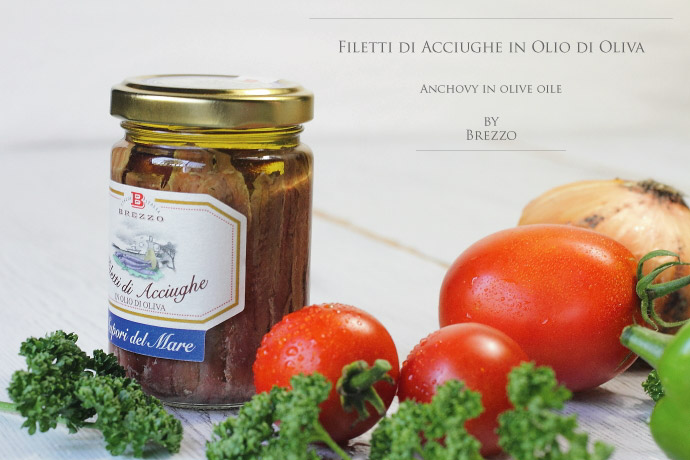アンチョビ・フィレ オリーブオイル漬 ブレッツォ社 イタリア産 (Italian Anchovy in olive oile by Brezzo)