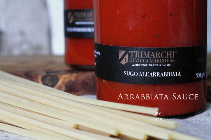 アラビアータソース トリマルキ社 イタリア産 (Italian Arrabbiata Sauce by Trimarchi)