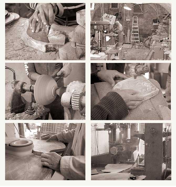 オリーブ雑貨の加工風景