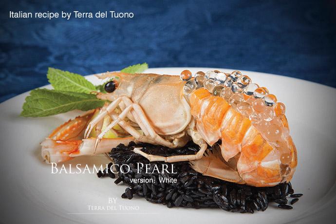 バルサミコ・パール・ホワイト イタリア産 (Italian white balsamico pearl by Terra del Tuono)