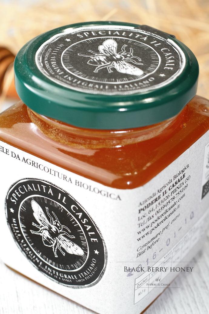ハチミツ ブラックベリー ポデーレ・イル・カッサーレ社 イタリア産 (Italian black berry honey by Podere il Casale)