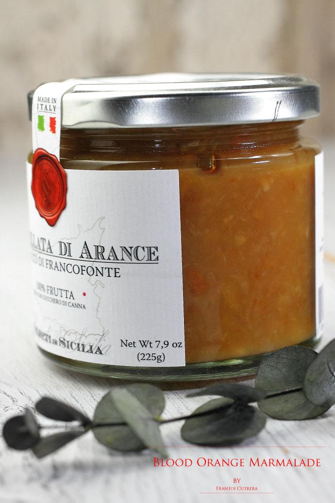 ブラッドオレンジのマーマレード フラントイ・クトレラ社 イタリア産 (Italian Blood Orange Marmalade by Frantoi Cutrera)