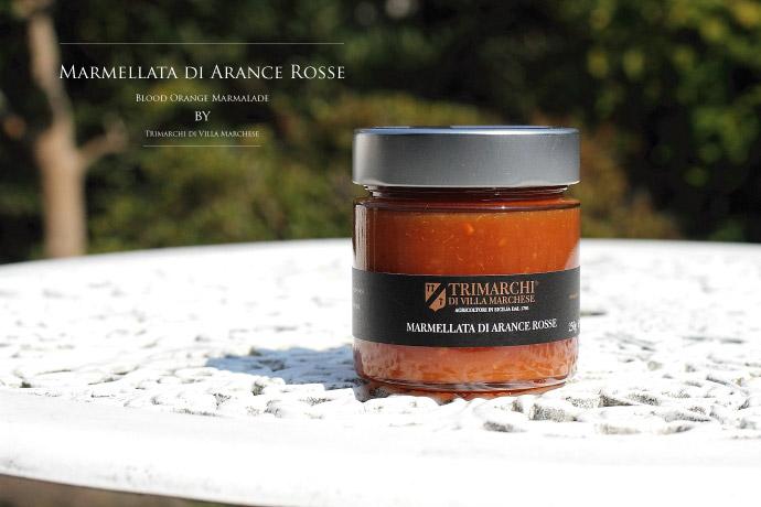 ブラッドオレンジのマーマレード トリマルキ社 イタリア産 (Italian blood orange marmalade by Trimarchi)