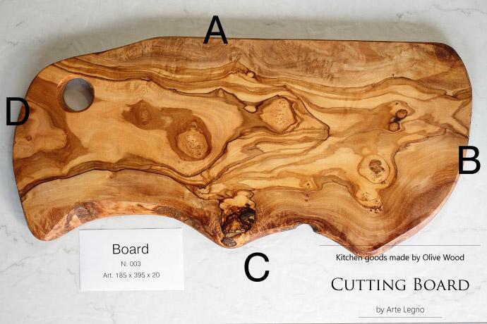 カッティングボード No.3 アルテレニョ社 イタリア製 (Italian Cutting Board made by Arte Legno Olive Wood)