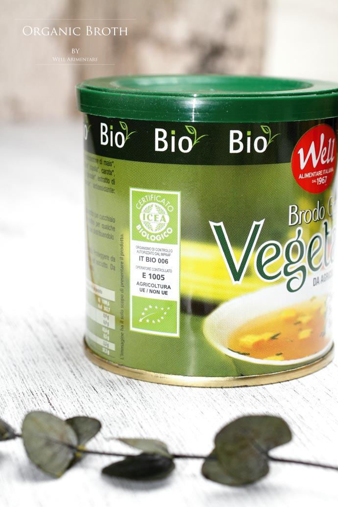 オーガニック・ブロード・コンソメ ウェル社 イタリア産 (Italian Organic broth by Well Arimentare)