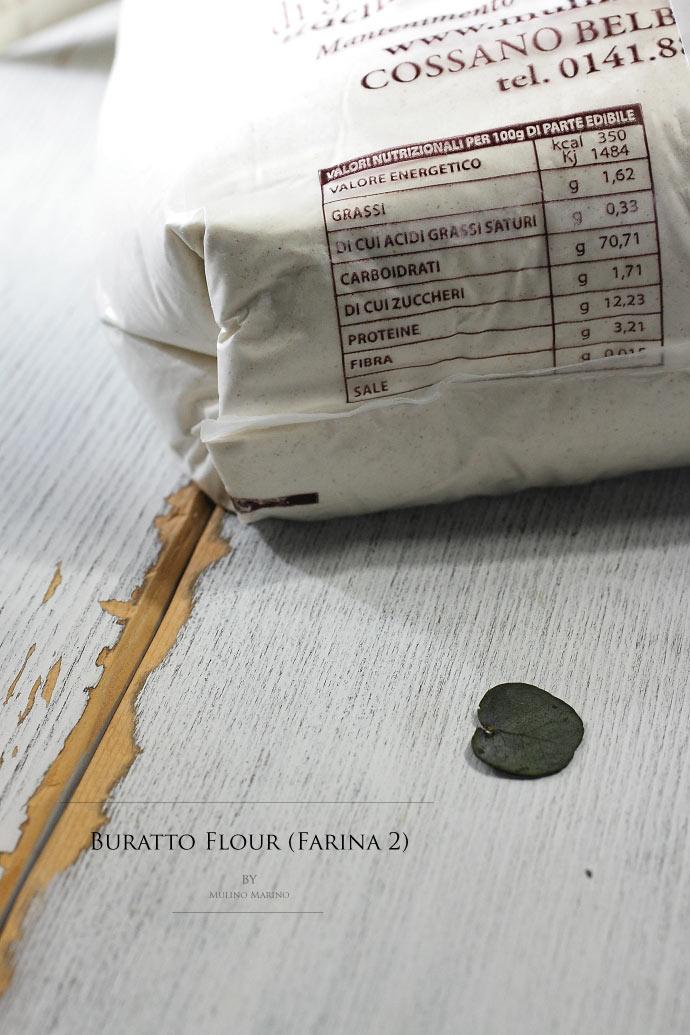 ブラット小麦粉 (ファリーナ2) ムリーノマリーノ社 イタリア産 (Italian Buratto Farina 2 by Mulino Marino)