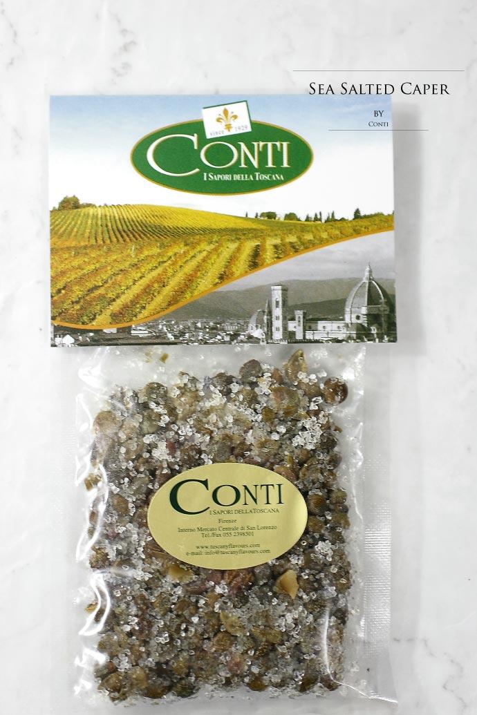 ケイパー (ケッパー) 塩漬 コンティ社 イタリア産 (Italian sea salted caper by conti)