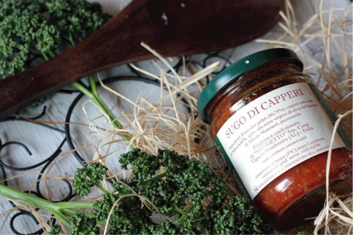 ケーパートマトソース イル・モンジェット社 イタリア産 (Italian caper tomato sauce by il mongetto)