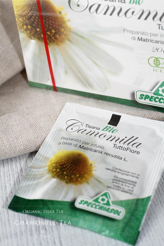 オーガニック・カモミールティー スペッキアソル社 イタリア産 (Italian chamomile tea by Specchiasol)