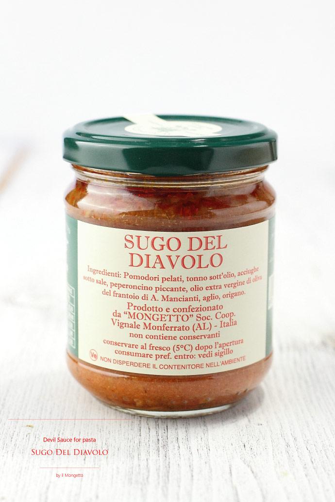 悪魔のソース イル・モンジェット イタリア産 (Italian Devil Sauce for Pasta)