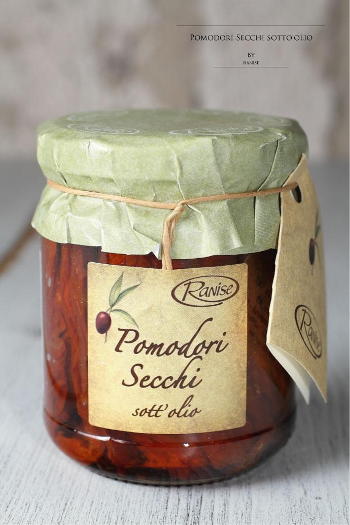 ドライトマトのオリーブオイル漬け 200g ラニーゼ社 イタリア産 (Italian dry tomato  in olive oile by Ranise)