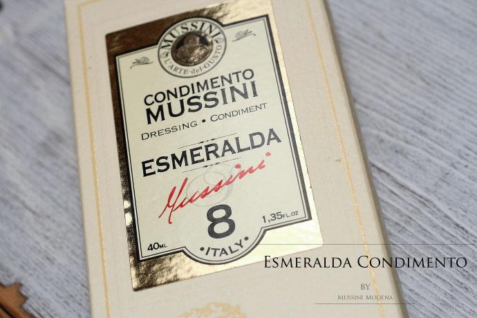 イタリア産 バルサミコ酢 8年熟成 ムッシーニ社 (Italian Balsamico 8 years by Mussini Esmeralda)
