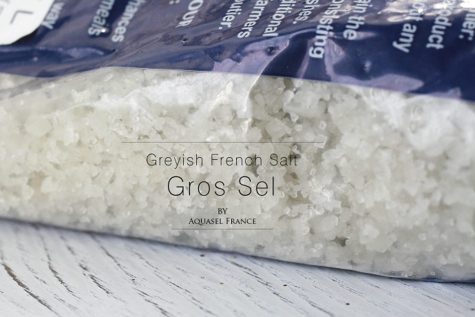 海塩 (粗粒) セル・マリン グロ アクアセル社 フランス産 (French coarse Salt Gros Sel by Aquasel)