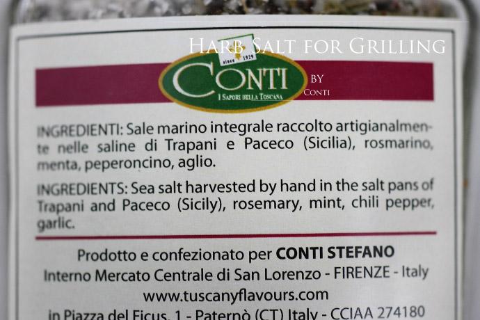 ハーブソルト サーレ グリリアータ コンティ社 イタリア産 (Italian harb salt Sale grigliate for grilling by conti)