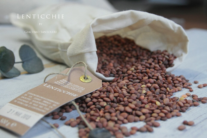 レンズ豆 (Lenticchie) 500g ジャコモ・サントレーリ (Giacomo Santoleri)
