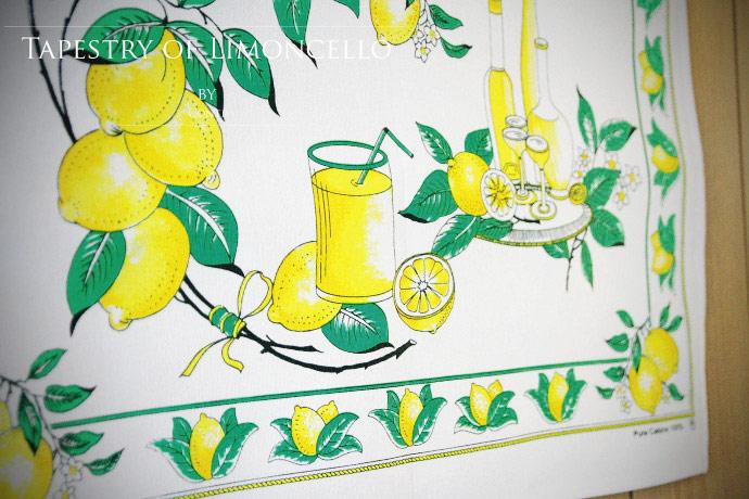 リモンチェッロの作り方・タペストリー コンティ社 イタリア産 (Italian Tapestry of Limoncello by conti)
