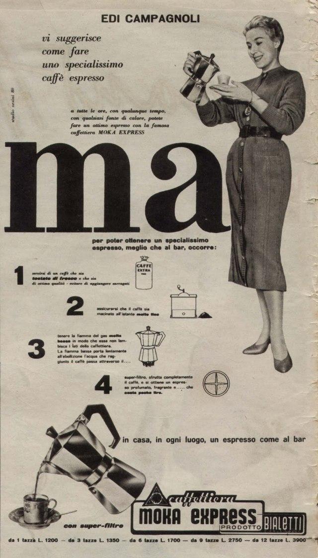 ビアレッティ・モカエクスプレス 古い広告