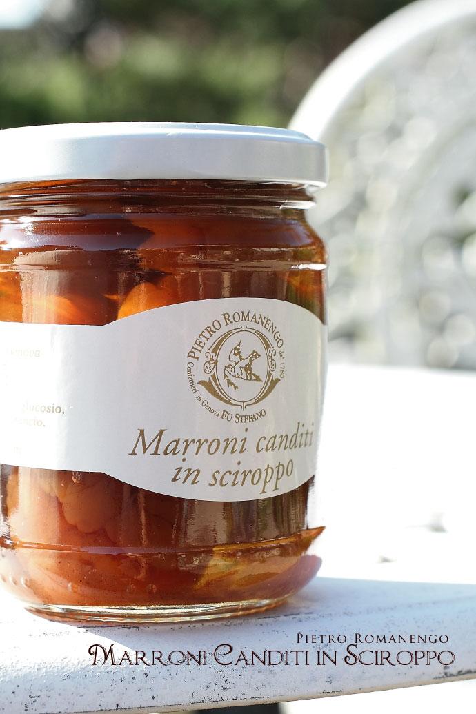 マロンのシロップ漬け ピエトロ・ロマネンゴ (Marroni canditi in sciroppo Pietro Romanengo)