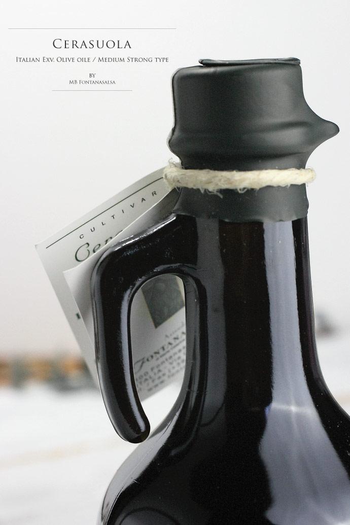 単一品種 (チェラソーラ種) EXV オリーブオイルMB イタリア産 (Italian EXV Olive oile Cerasuola by MB Fontana Salsa)