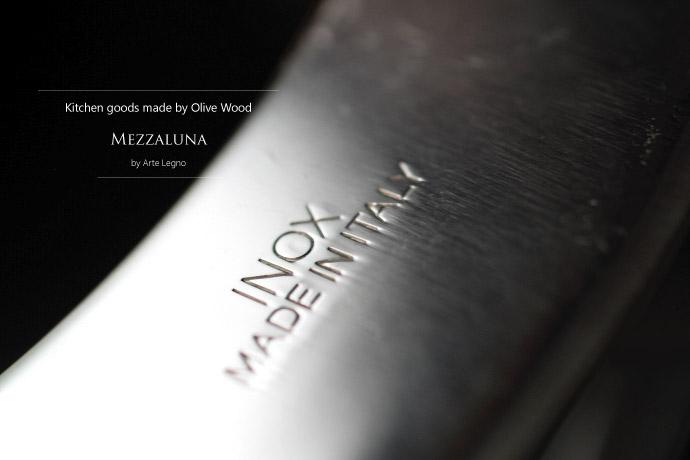 メッツァルーナ アルテレニョ社 イタリア製 (Italian Mezzaluna made by Arte Legno)