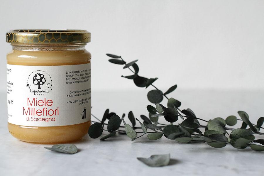 ミッレフィオーリ ハチミツ アレスマリア社 イタリア産 (Italian honey Mille Fiori by Aresu Maria)