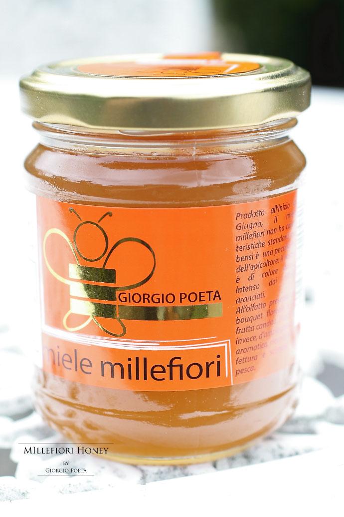 ハチミツ ミッレフィオーリ ジョルジオ・ポエタ社 イタリア産 (Italian Millefiori honey by Giorgio Poeta)