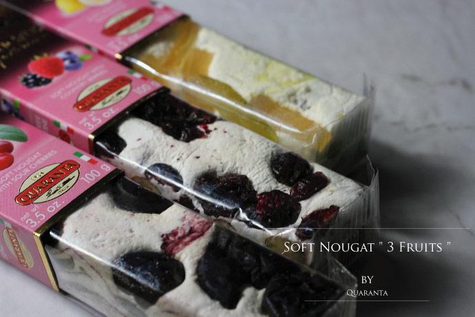 ソフト・ヌガー フルーツセット クアランタ社 イタリア産 (Italian Soft Nougat Fruit version by Quaranta)