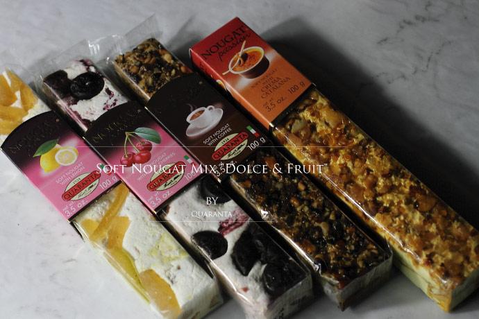 ソフト・ヌガー フルーツ ドルチェ 4種4本セット クアランタ社 イタリア産 (Italian Soft Nougat fruits & Dolce set by Quaranta)