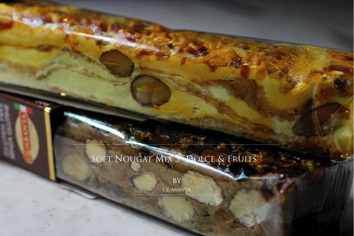 ソフト・ヌガー ドルチェ & フルーツ 5種5本セット 500g クアランタ社 イタリア産 (Italian Soft Nougat Fruit & Dolce set by Quaranta)