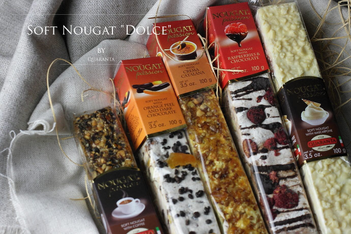 ソフト・ヌガー ドルチェ・セット クアランタ社 イタリア産 (Italian Soft Nougat Dolce version by Quaranta)
