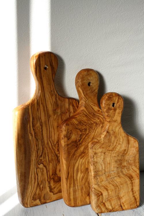 オリーブの木 カッティングボード サイズ見本