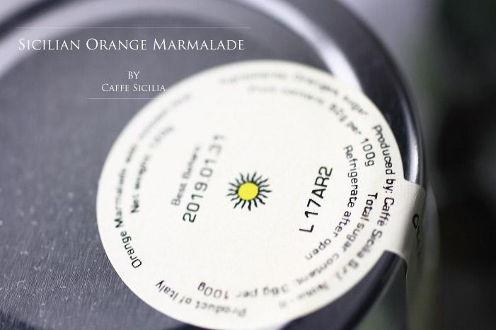 イタリア産 オレンジマーマレード カフェシチリア社 Italian Orange Marmalade by caffe sicilia