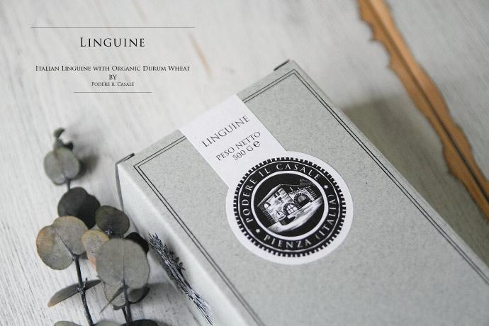 オーガニック パスタ・リングイネ ポデーレ・イル・カサーレ イタリア産 (Italian organic Linguine by Podere il Casale)