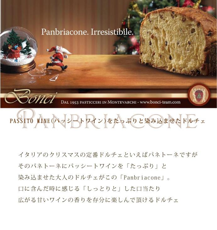 パンブリアコーネ (パネトーネ) ボンチ社 イタリア産 (Italian panburiacone panetone by bonci)