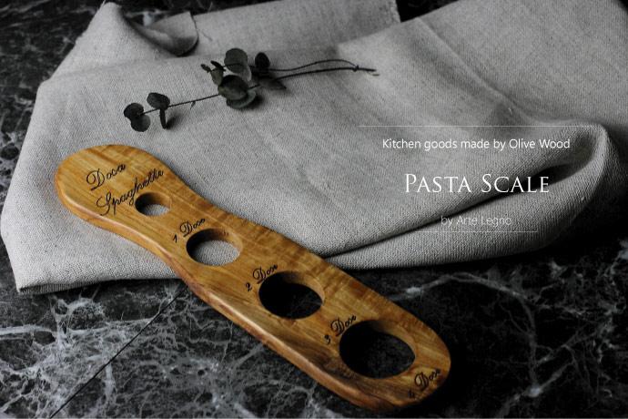 パスタスケール アルテレニョ社 イタリア製 (Italian Pasta Scale made by Arte Legno Olive Wood)