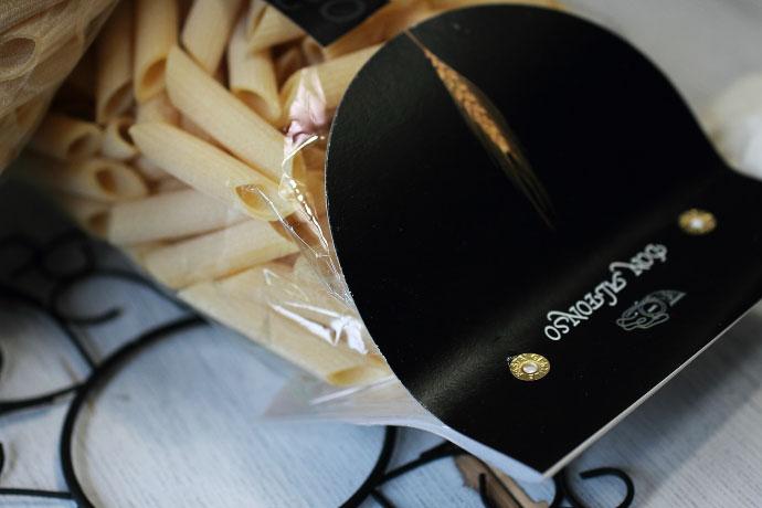 イタリア産 Don Alfonso レストラン・ドンアルフォンソのペンネ・リガーテ500gのパッケージ 前
