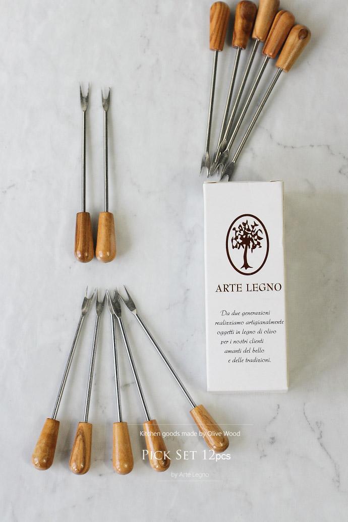 ピック セット アルテレニョ社 イタリア製 (Italian Pick Set made by Arte Legno Olive Wood)