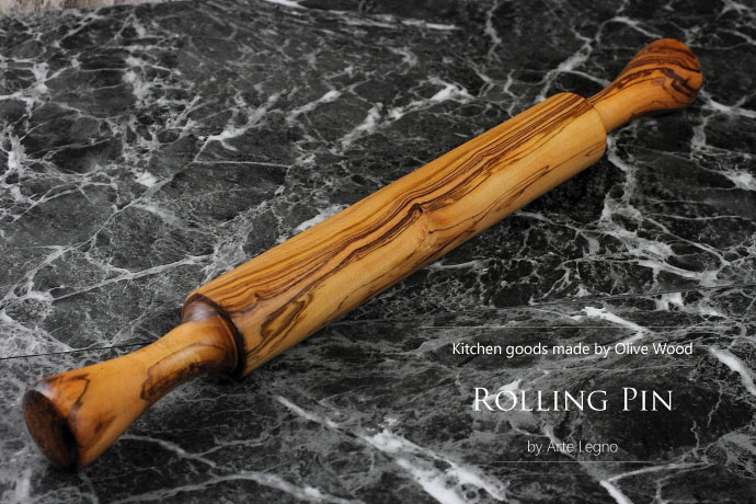 麺棒 アルテレニョ社 イタリア製 (Italian Rolling Pin made by Arte Legno Olive Wood)