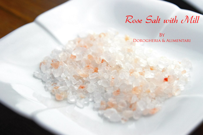 ミル付 ピンク ソルト 岩塩  ヒマラヤ山脈採掘 (Himalayas Mountains Rose Salt with Mill by DROGHERIA & ALIMENTARI)