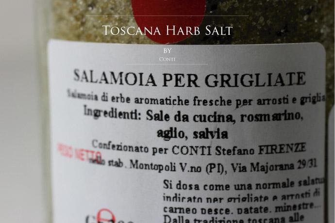トスカーナ ハーブソルト コンティ社 イタリア産 (Italian Toscana Harb salt by Conti)