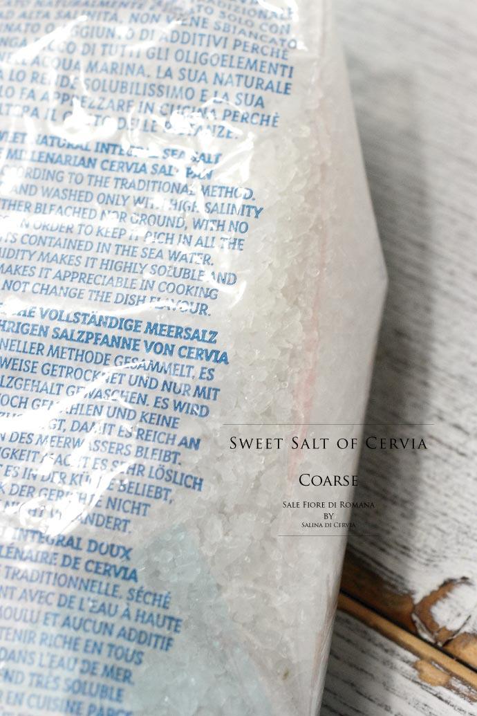 海塩 サーレ ディ チェルビア 粗粒 1kg イタリア産 (Italian Sweet salt coarse Sale di Cervia by Salina di Cervia)
