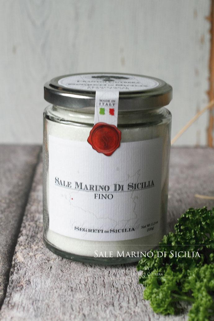 シチリア産海塩 細粒 フラントイ・クトレラ社 イタリア産 (Italian Sicilia salt by Frantoi Cutrera)