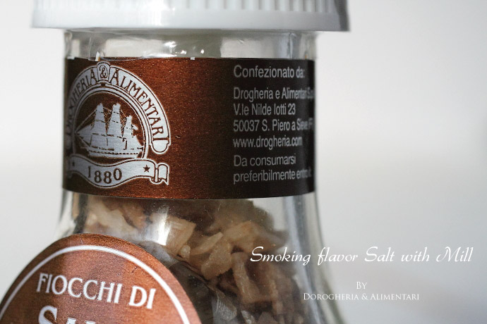 ミル付 スモークフレーバー ソルト キプロス産 (Cyprus Smoking Flavor Salt with Mill by DROGHERIA & ALIMENTARI)