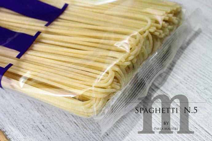 スパゲッティ No.5 1.7mm パスタ マエストリ社 イタリア産 (Italian Spaghetti No.5 by Pasta Maestri)