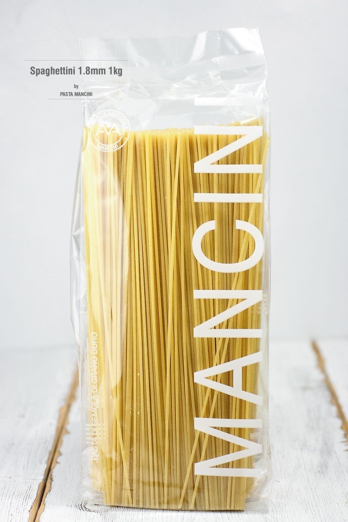 スパゲッティーニ 1.8mm 1kg パスタ・マンチーニ イタリア産 (Italian Spaghettini by Pasta Mancini)