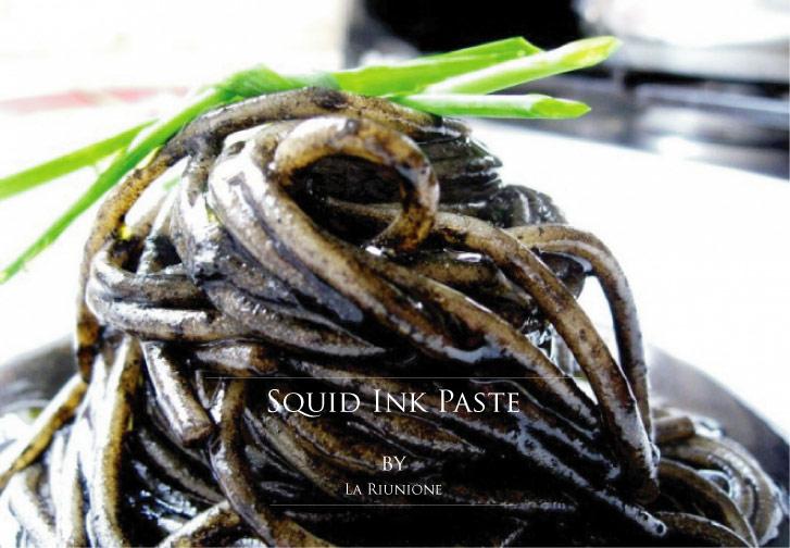 地中海で取れたイカのイカスミのペースト ラ リウニオーネ社 (Squid ink paste from Mediterranean by La Riunione) レシピ