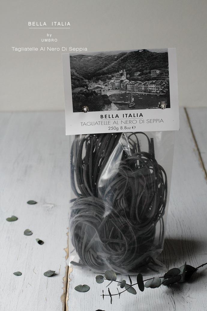 タリアテッレ・イカスミ入り Umbro社 250g (Tagliatelle al nero di seppia by Umbro Italy) イタリア産