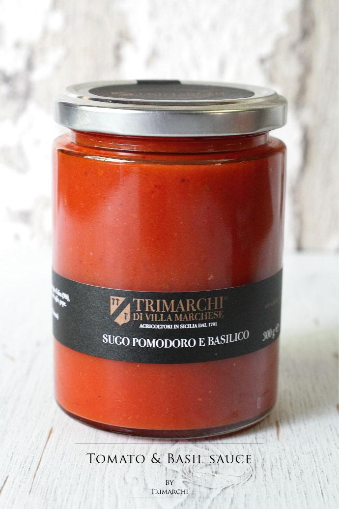 トマトソース バジル入 トリマルキ社 イタリア産 (Italian Tomato Sauce with Basil by Trimarchi)